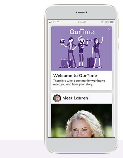 OurTime App Mobile Phone