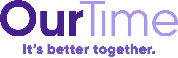OurTime logo - It's better together.